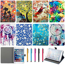 """Floral Universal Flip Leather Case Cover For 7"""" 7 Inch Tablet PC PAD MID +Stylus"""