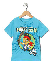 Disney Jake and the Never land pirates Toddler Boys Tee Shirt Size 4t Turquoise