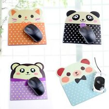 Cute Animal Face-Design Anti-slip Mouse Pad Mat Laptop PC Mousepad Mice Pad Rest