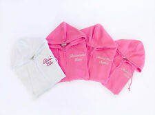 Personalised Zipped Hoodie, Wedding Bridal Hen Party Hoodies, Embroidered text