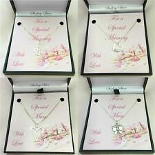 Mothers Day Jewellery. 925 Sterling Silver Necklaces. Gift for Mum or Mummy.