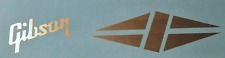 1 Gibson & 1 Diamond Guitar Headstock Logo Waterslide Decals. All Colors Avail.