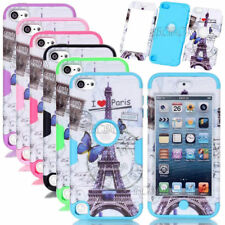 Eiffel Tower Pattern Rugged Shockproof Hybrid Matte Case Skin For iPod Touch 5 6