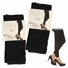 Womens Ladies Thermal Leggings Black Footless Heat Trapper Tight Warm Winter