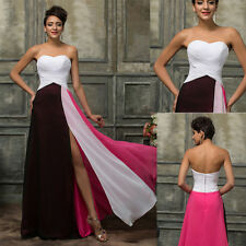 Long Chiffon Bridesmaid Dress Evening Formal Party Prom Cocktail Celeb Ballgown