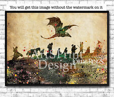 Lord of the Rings 2 Print Watercolor Print LOTR Poster Movie Poster Wall Art