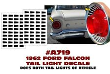 A719 1962 FORD FALCON - TAIL LIGHT DECAL STICKER KIT