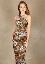 Stop Staring Katness Fitted Dress leopard pinup pencil NWT