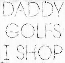 Daddy Golf Tshirt Onesie Infant Toddler Youth Baby Shower gifts rhinestone girl