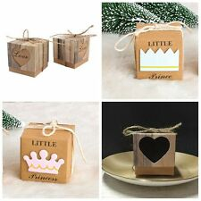 50Pcs Party Favour Boxes Candy Gift Bags Anniversary Supply Brown Kraft Paper