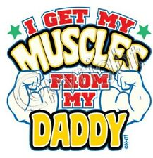 Daddy Muscle kid Tshirt Onesie Infants Toddler Baby Shower Birthday Gift US Size