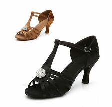 Free shipping Brand New Women's Ballroom Latin Tango Dance Shoes heeled Salsa226