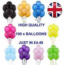 "10"" X 100 BEST HELIUM QUALITY LATEX BALLOONS WEDDING CHRISTENING BIRTHDAY MOTHER"