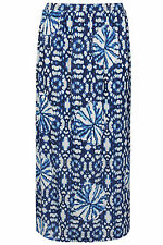 YoursClothing Plus Size Womens Ladies CirclePrint Jersey Maxi Skirt Elasticated