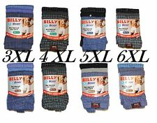 Mens BIG SIZE 2Pack 6Pairs Billy Boxers button fly underwear Jersey boxer shorts