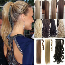 Women Luxury Jaw Claw Ponytail Clip In Hair Extensions Brown Blonde As Human Hs