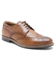 Red Tape Backford Tan Leather Mens Brogues Classic Style Formal Shoes Lace Up