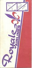 ROYALE AIRLINES USED TICKET JACKET AND BOARDING PASSES 1984 - FREE SHIPPING