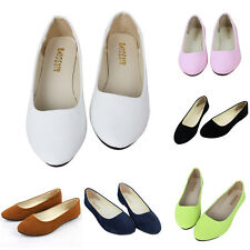 Fashion Women Lady Casual Flat Shoes Ballet Flats Loafers Single Shoes Slip On