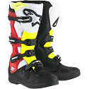 ALPINESTARS TECH 5 MOTOCROSS ATV DIRTBIKE MX BOOTS BLACK/RED/YELLOW MENS SIZE