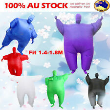 Lovely Fan Operated Inflatable Fancy Chub Fat Masked Suit Costume Blow Up Dress