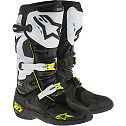 ALPINESTARS TECH 10 MOTOCROSS ATV DIRTBIKE MX BOOTS BLACK/WHITE/FLO YL MENS SIZE