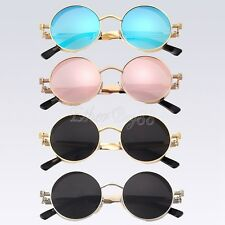 Vintage Steampunk Sunglasses 50s Round Glasses Cyber Goggles Blinder Star Style