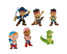Disney Jake and the Neverland Pirates 7 Mini Figures Cake Toppers PVC Bullyland