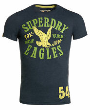 New Mens Superdry Icon Eagle T-Shirt Midnight Marl Blue