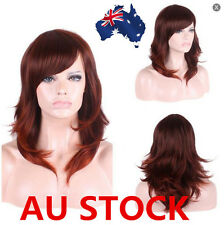 Lace Front Red Brown Long Wig Straight Curly Wavy Lob Tousle Womens Cosplay Hair