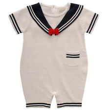 Traditional Romany Spanish Style Knitted Sailor Romper Suit Outfit- Kris X Kids