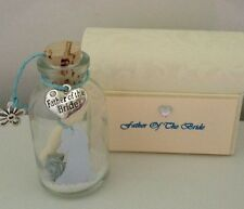PERSONALISED FATHER OF THE BRIDE / GROOM THANK YOU MESSAGE IN A BOTTLE GIFT POEM