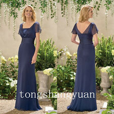 Ruched Chiffon Mother Of The Bride Dresses For Ladies Wedding Formal Gowns 2017