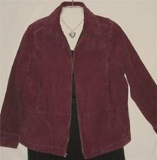 Jacket Plus Size Burgundy Corduroy Long Sleves Size 1X Free Shipping to US