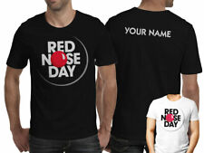 Personalised - Red Nose Day 2017 - Comic Relief T Shirt Top Adult - S M L XL XXL