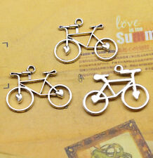 30x22mm Antique Alloy silver bicycle pendant Making Jewelry Charms Pendants