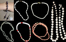 VINTAGE COSTUME JEWELRY Beaded Strand, Choker & Sarah Coventry Necklace Listings