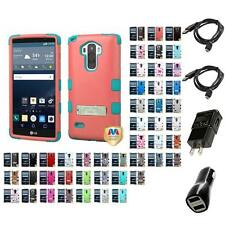 For LG G Stylo LS770 Hybrid TUFF IMPACT Phone Case Hard Rugged Cover Chargers