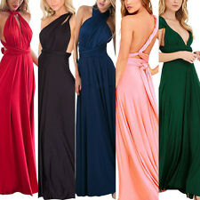 Convertible Womens Wrap Bridemaid Wedding Evening Party Full Length Maxi Dress