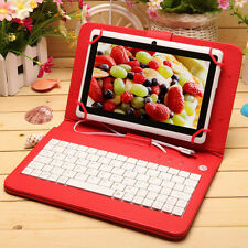 """7"""" inch Android 4.4 Quad Core White Tablet PC 8GB Dual Camera w/ Keyboard Bundle"""