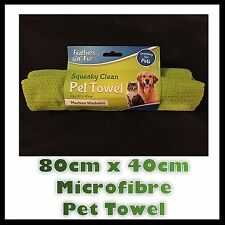 MICROFIBRE SUPER ABSORBENT PET TOWEL DOG CAT MACHINE WASHABLE PUPPY DRYING DRY