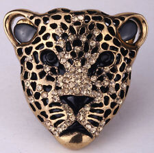 Leopard stretch ring fashion animal bling scarf fashion jewelry gift for woman 1