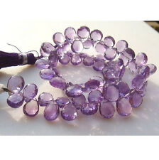 23 Pcs Pear Amethyst Beads, Brazilian Amethyst, Micro Faceted Amethyst Beads