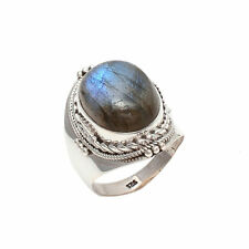 LABRADORITE SOLID 925 STERLING SILVER NICE RING CUSTOM SIZE 5,6,7,8,9,10