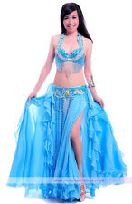 Belly Dance Performance Costume Bra&Belt&Skirt 34B/C 36B/C 38B/C 40B/C 11 colors