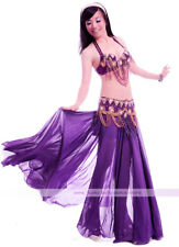 Performance Belly Dance Costume Bra&Belt&Skirt 34B/C 36B/C 38B/C 40B/C 11 colors