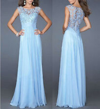 Long Chiffon Evening Formal Party Ball Gown Prom Bridesmaid Dress Wedding 6-10