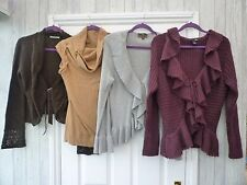 10 12 14 16 18/20 Boho Hippy Grunge Wicca WOOL Knitted Tied Shrug Cardigan Top
