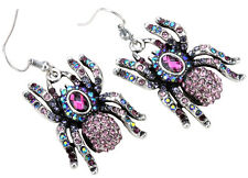 Spider dangle earrings fashion jewelry gifts for women girls EA05 crystal charm