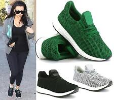 LADIES RUNNING TRAINERS WOMENS FITNESS GYM SPORTS COMFY LACE UP SHOES SIZE